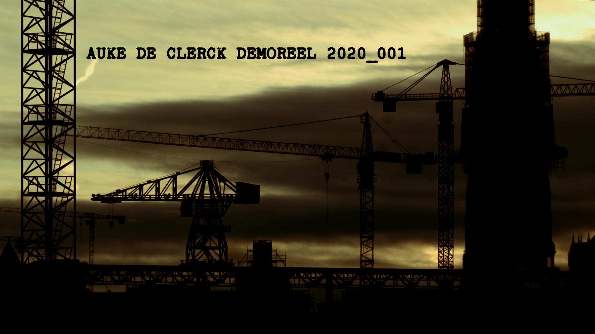 Auke De Clerck Demoreel Still